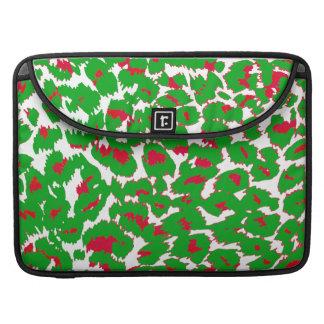 Christmas Leopard Spots Pattern MacBook Pro Sleeves