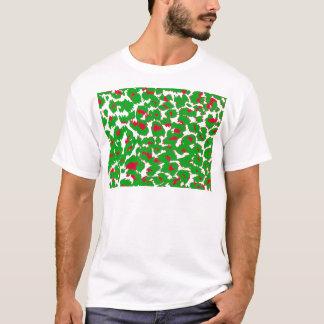 Christmas Leopard Spots Pattern T-Shirt