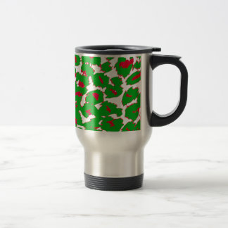 Christmas Leopard Spots Pattern Travel Mug