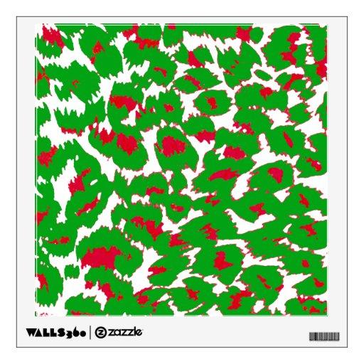 Christmas Leopard Spots Pattern Wall Skins