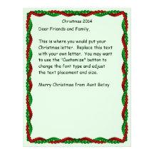 Christmas letter beaded boarder letterhead