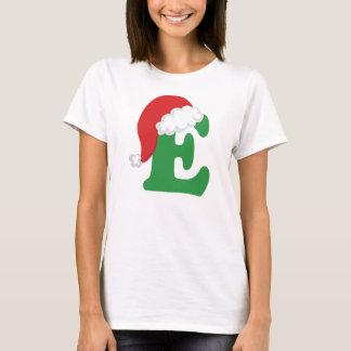 Christmas Letter E Alphabet T-Shirt