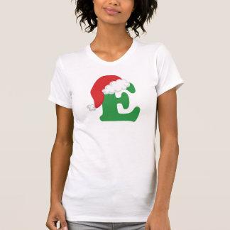 Christmas Letter E Alphabet Tee Shirts
