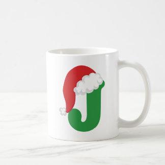 Christmas Letter J Alphabet Coffee Mug