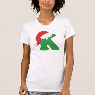 Christmas Letter K Alphabet Shirt
