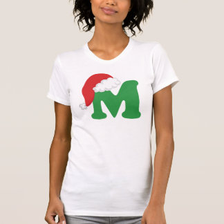 Christmas Letter M Alphabet Tshirts