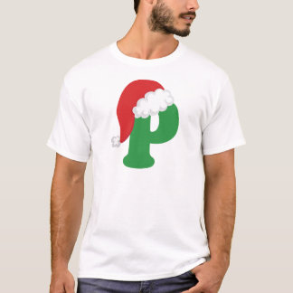 Christmas Letter P Alphabet T-Shirt