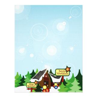 Christmas Letter Paper - North Pole Design Letterhead