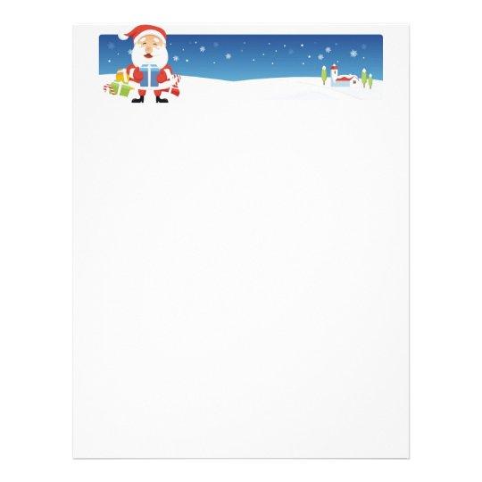 Christmas Letter Paper - Santa Banner
