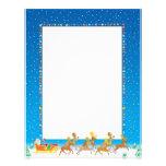 Christmas Letter Paper - Santa in Sleigh Design Letterhead Design