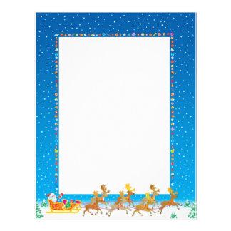 Christmas Letter Paper - Santa in Sleigh Design Letterhead