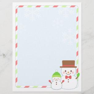 Letter paper christmas letterhead zazzle christmas letter paper smiling snowman spiritdancerdesigns Gallery