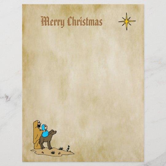 christmas letter paper