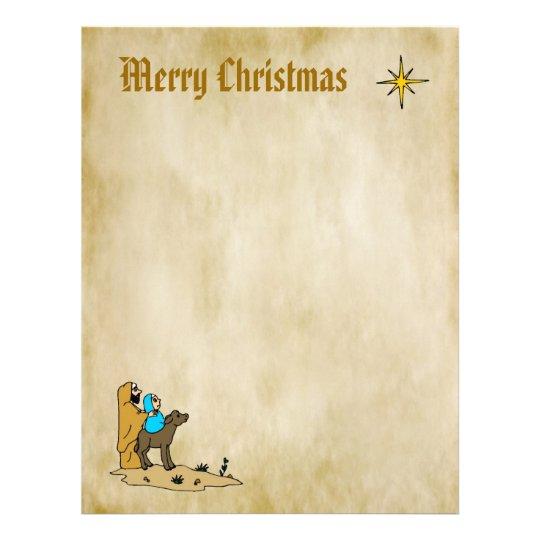 Christmas Letter Paper - Star of Bethlehem