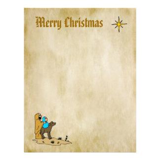 Christmas Letter Paper - Star of Bethlehem Personalized Letterhead