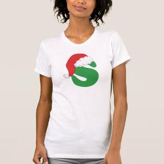 Christmas Letter S Alphabet Shirt