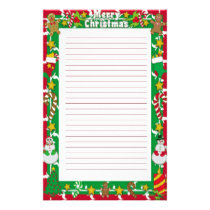 Christmas Letter Stationery