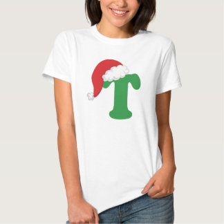 Christmas Letter T Alphabet T Shirt