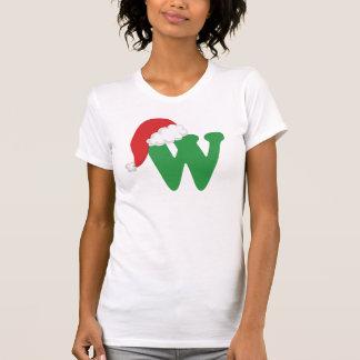 Christmas Letter W Alphabet T Shirt