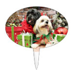 Christmas - Lhasa Apso - Clover and Pixie Cake Topper