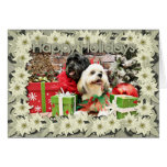 Christmas - Lhasa Apso - Clover and Pixie Greeting Card