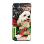 Christmas - Lhasa Apso - Clover and Pixie iPod Touch 5G Covers