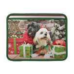 Christmas - Lhasa Apso - Clover and Pixie MacBook Air Sleeves