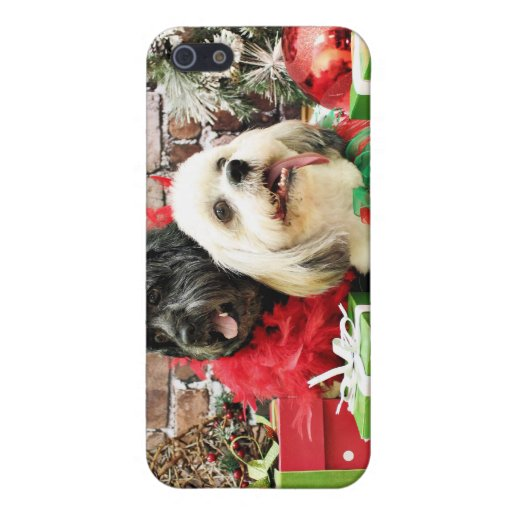Christmas - Lhasa Apso - Clover and Pixie Covers For iPhone 5