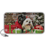 Christmas - Lhasa Apso - Clover and Pixie Portable Speakers