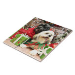 Christmas - Lhasa Apso - Clover and Pixie Tile