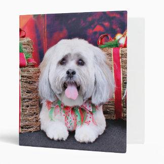 Christmas - Lhasa Apso - Solo Vinyl Binders