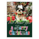 Christmas - Lhasa Apso X - Parker Greeting Cards