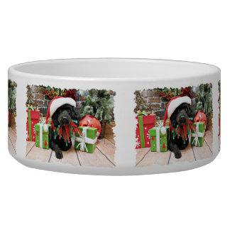 Christmas - LhasaPoo - Buddy Bowl