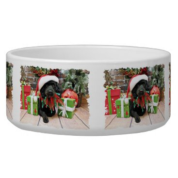 Christmas Themed Christmas - LhasaPoo - Buddy Bowl