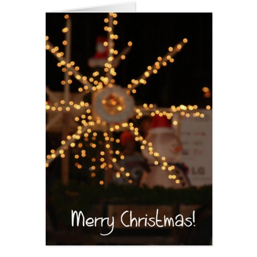 Christmas Light Abstract Greeting Cards