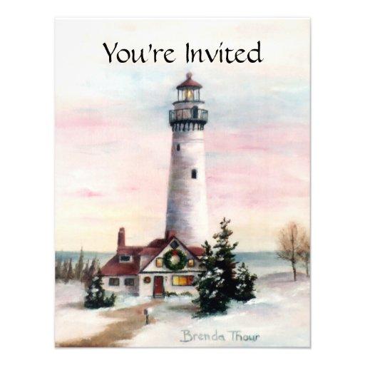 Christmas Light Invitation