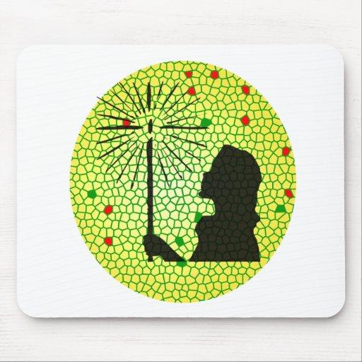 christmas light mosaic mouse pad