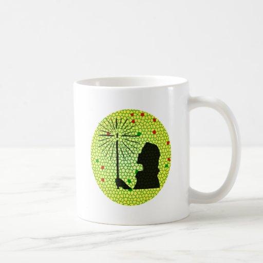 christmas light mosaic coffee mugs