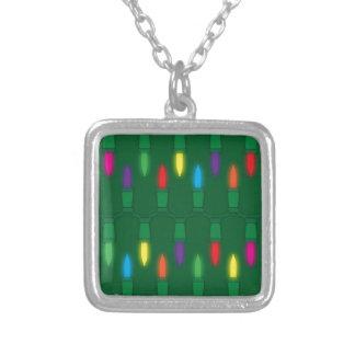 Christmas Light Pattern Green Pendants