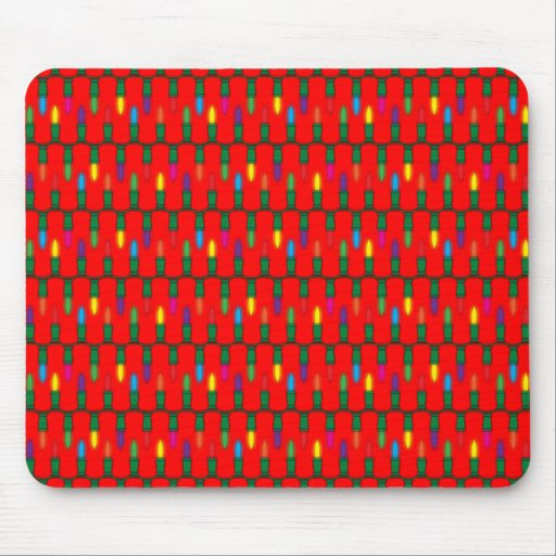 Christmas Light Pattern Red Mousepads