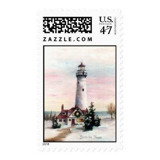 Christmas Light Postage Stamp
