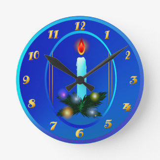 Christmas Light Round Clock