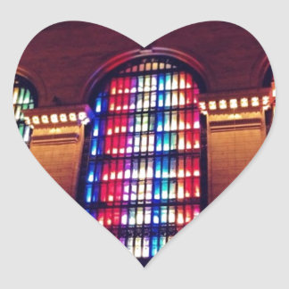 Christmas Light Show in Grand Central Station, NYC Heart Sticker