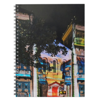 Christmas Light Show in Medellin Colombia Spiral Notebook