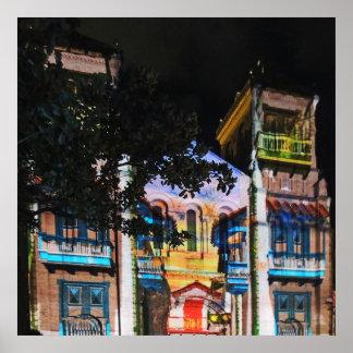 Christmas Light Show in Plaza Bolivar-Medellin Poster