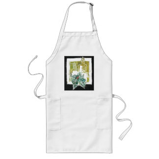 Christmas Light -Three Candles & Holy Sprig Long Apron