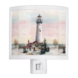 Christmas Lighthouse Night Light