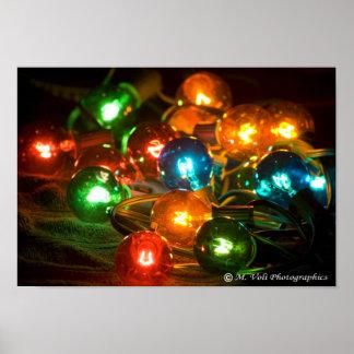 Christmas lights 01 poster
