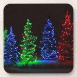 CHRISTMAS LIGHTS 1 BEVERAGE COASTER