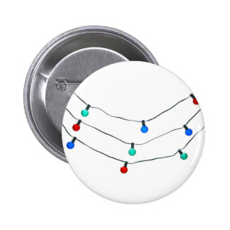 Christmas lights 2 inch round button